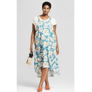 Ava & Viv Floral Print High-Low Sundress 3X